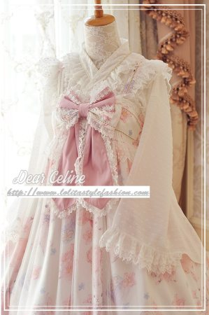 Sakura rabbit~Sweet Lace Hime Sleeve Lolita Blouse