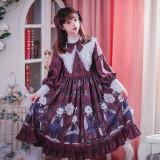 Poisonous mushroom~Black Gothic Lolita OP Dress