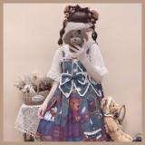 Detective bear~Sweet Pinting Lolita JSK Dress