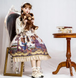 Detective bear~Sweet Pinting Lolita JSK Dress