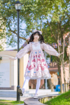 Spot bear~Sweet Print Lolita OP Dress