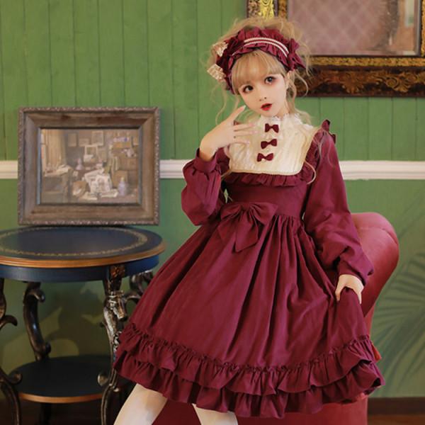 Dallas dance~Classic Long Sleeve Lolita OP Dress