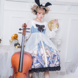 Alice~Cute Bunny Print Lolita JSK Dress