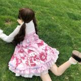 Spot bear~Sweet Print Lolita JSK Dress
