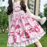 Spot bear~Sweet Print Lolita JSK Dress