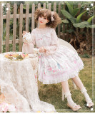 Dream afternoon~Sweet Print Lolita JSK Dress