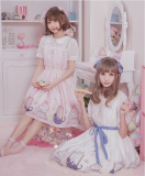 MissCat~Sweet Print Short Sleeve Lolita OP Dress