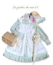 Le jardin de rose 2.0~ pastoral style lolita jsk dress/apron