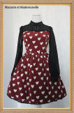 The queen of hearts~Sweet Long Sleeve Lolita OP Dress