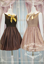 Le chocolat~Miss macaron chocolate long sleeve lolita op dress