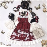 Little devil sailing whales~Black Vintage Lolita JSK/ Jumper dress