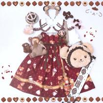 Gift Box Bear~Sweet Doll Lolita JSK/Jumper skirt