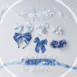 Cute little sea animals~Sweet Print Lolita JSK /Jumper skirt