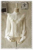 【Infanta】 Vertical collar Chiffon Lolita Blouse
