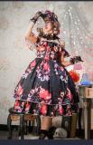 Valentine's gift Print Black Lolita JSK Dress