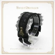 SweetDreamer~ God of Gamblers, Alice~Lolita headband whit lace bow