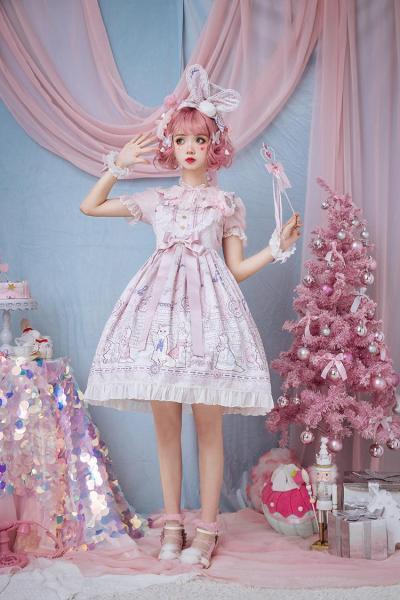 Fox's clinic~Daily Sweet Print High Waist Lolita JSK  Pre-order