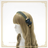 SweetDreamer Lace Pearl rose cage bow Lolita headband/KC