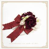 SweetDreamer Anne garden~  Lolita hairpin/brooch with rose flower ball & gem