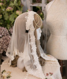 SweetDreamer Lolita Hairband with beadchain lace crystal pendant & hair veil Set