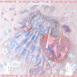 Dreamy Snowball~ Sweet Printed Lolita Jumper Skirt Pre-order