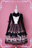 Steam tetralogy~Black Punk doll Print Lolita JSK/Jumper skirt