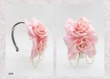 SweetDreamer Sweet flowers Lolita headbow whith beadchain
