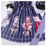 Cat of Alice~Japanese Vintage Cute Lolita JSK/ Jumper skirt