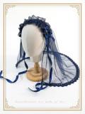 SweetDreamer Hand made  Water drill cross lace yarn lolita headband white veil