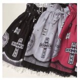 Lace Cross~Sweet and Lovely Print Lolita OP Dress