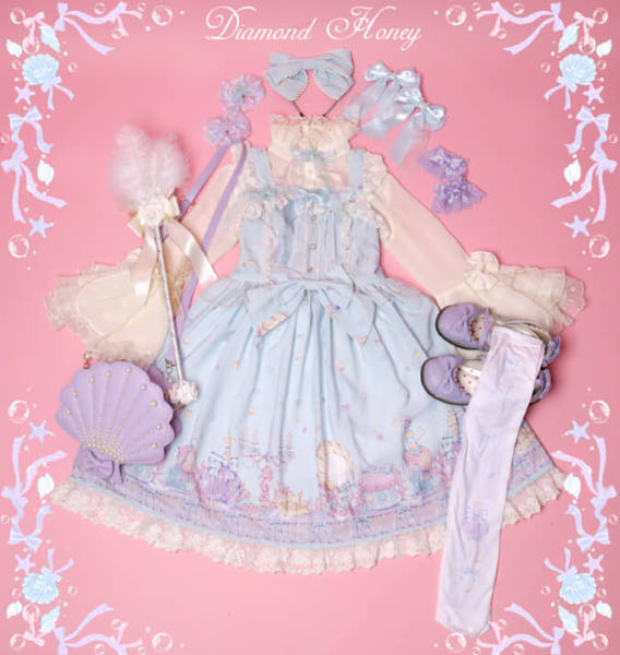 Mermaid~Dream cosmetics daily lolita jsk/ jumper skirt
