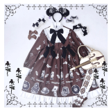 Paper doll~Sweet and Lovely Print Lolita OP Dress