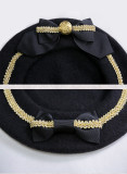 SweetDreamer ~Sweet lolita beret with two bows