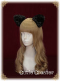 SweetDreamer Walpurgis Night~Sweet lolita  cat's ear hairpin with bow