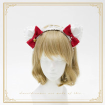 SweetDreamer My little cat/ Cat's ear lace bow lolita headbow