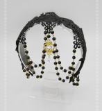 SweetDreamer Lolita Hairband with beadchain lace crystal pendant & hair veil Set