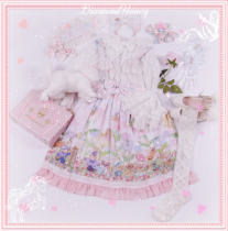 Thumb Girl~Sweet and Lovely Print Lolita Jumper skirt