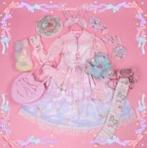 Dream angel~Lovely gradient white clouds Print Lolita JSK/Jumper skirt