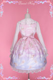 Dream angel~Lovely gradient white clouds Print Lolita JSK/Jumper skirt