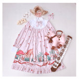 The deer forest~Sweet and Lovely Print Lolita OP Dress