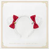 SweetDreamer My little cat/ Cat's ear lace bow lolita headbow