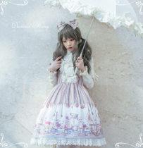 Steam tetralogy~Black Punk doll Print Lolita JSK/Jumper skirt
