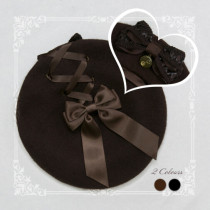 SweetDreamer Steam age~Lolita beret whit Cross band & bow