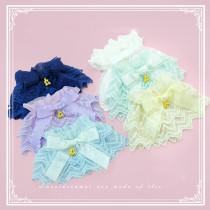 SweetDreamer Double wave lace bow cherry pendant Sweet Lolita Wristcuffs