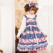 Peach ~Sweet  Printing Daily Lolita Jsk Dress Version Ⅱ