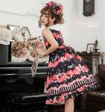 Peach ~Sweet  Printing Daily Lolita Jsk Dress Version Ⅰ