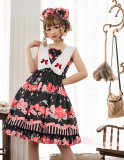 Peach ~Sweet  Printing Daily Lolita Jsk Dress Version Ⅰ