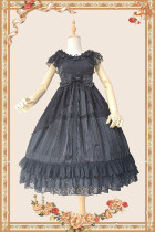 INFANTA~obsidian~Lace Flower Wedding JSK One-piece Dress