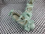 News Lolita Princess Shoes white two big bows