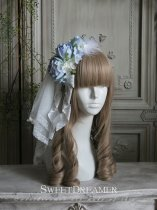 Sweetdreamer Mockingbird song Rose feather pearl bow tie Lolita hairband KC